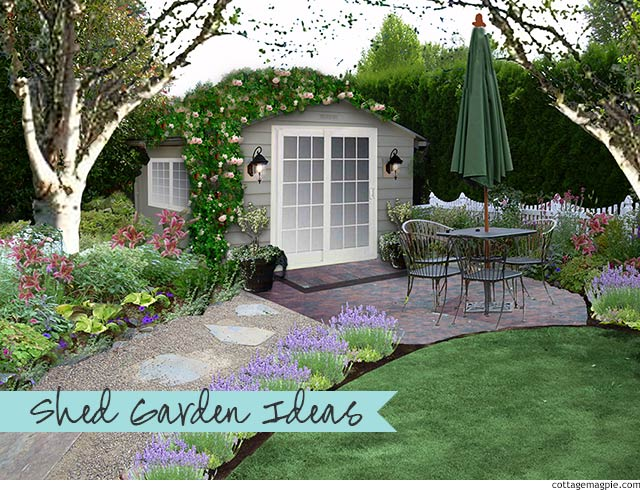This Year's Garden Project: The Shed Garden via cottagemagpie.com