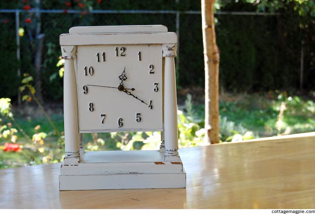 White Mantel Clock