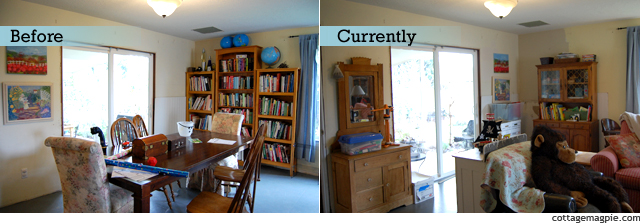 Family Room Before & Current