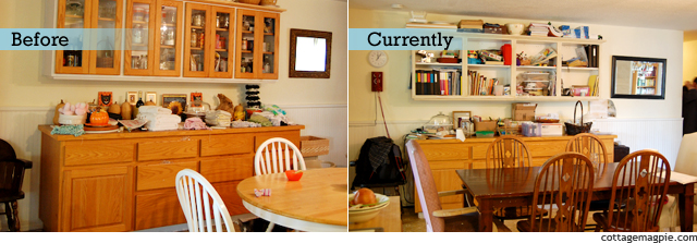 Dining Room Before & Current
