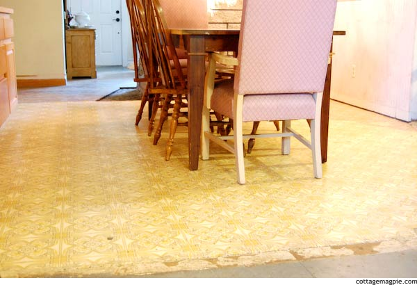 Yellow 70's Vinyl Floor