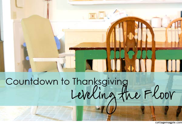 Coundown to Thanksgiving - Leveling the Floor