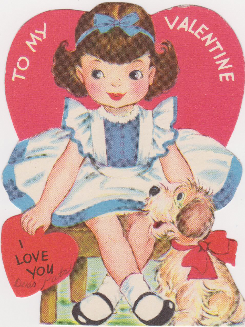 Vintage Valentine Image for Shadowbox Ornament via www.angelamaywaller.com