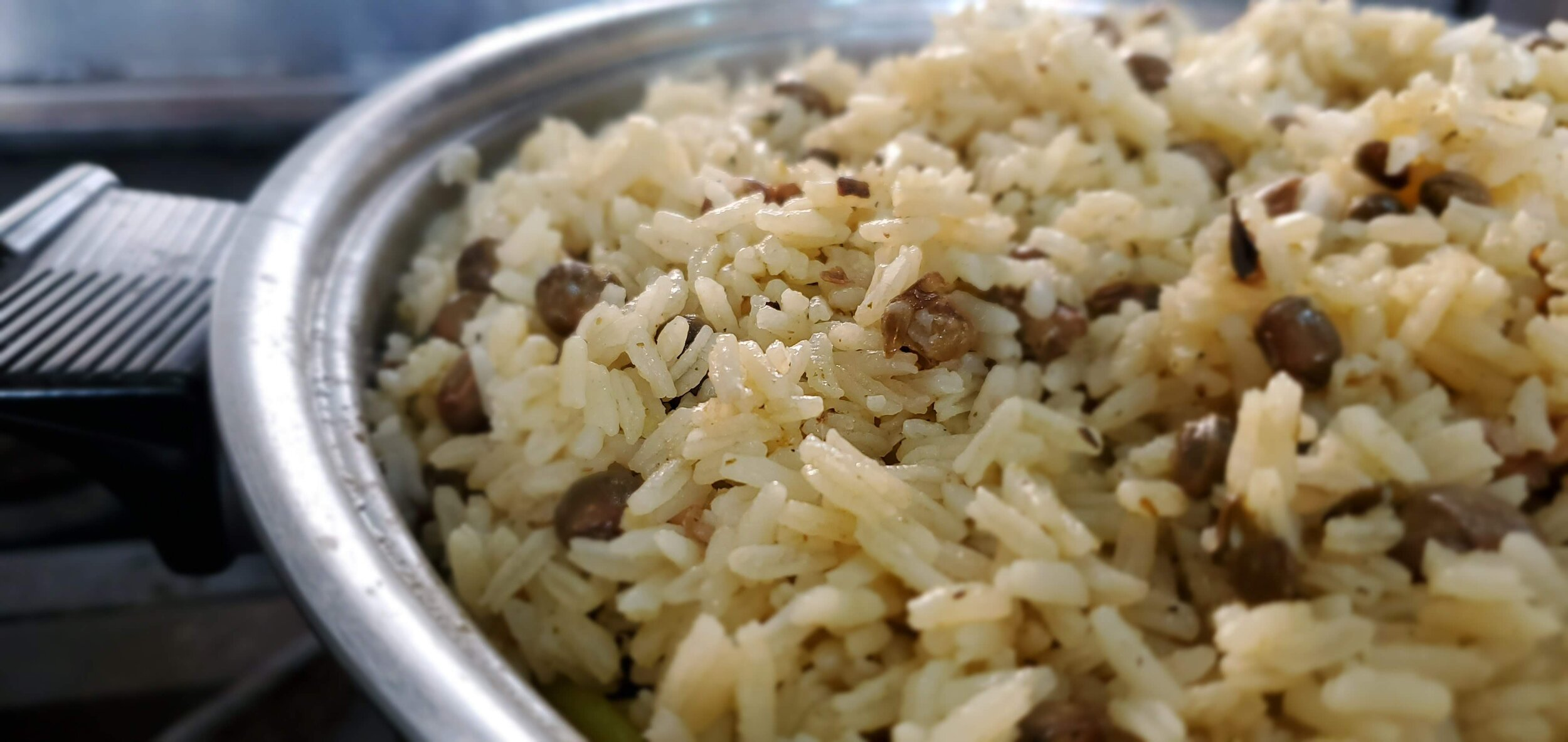 Moro de gandules con coco - Coconut milk rice with pigeon pease