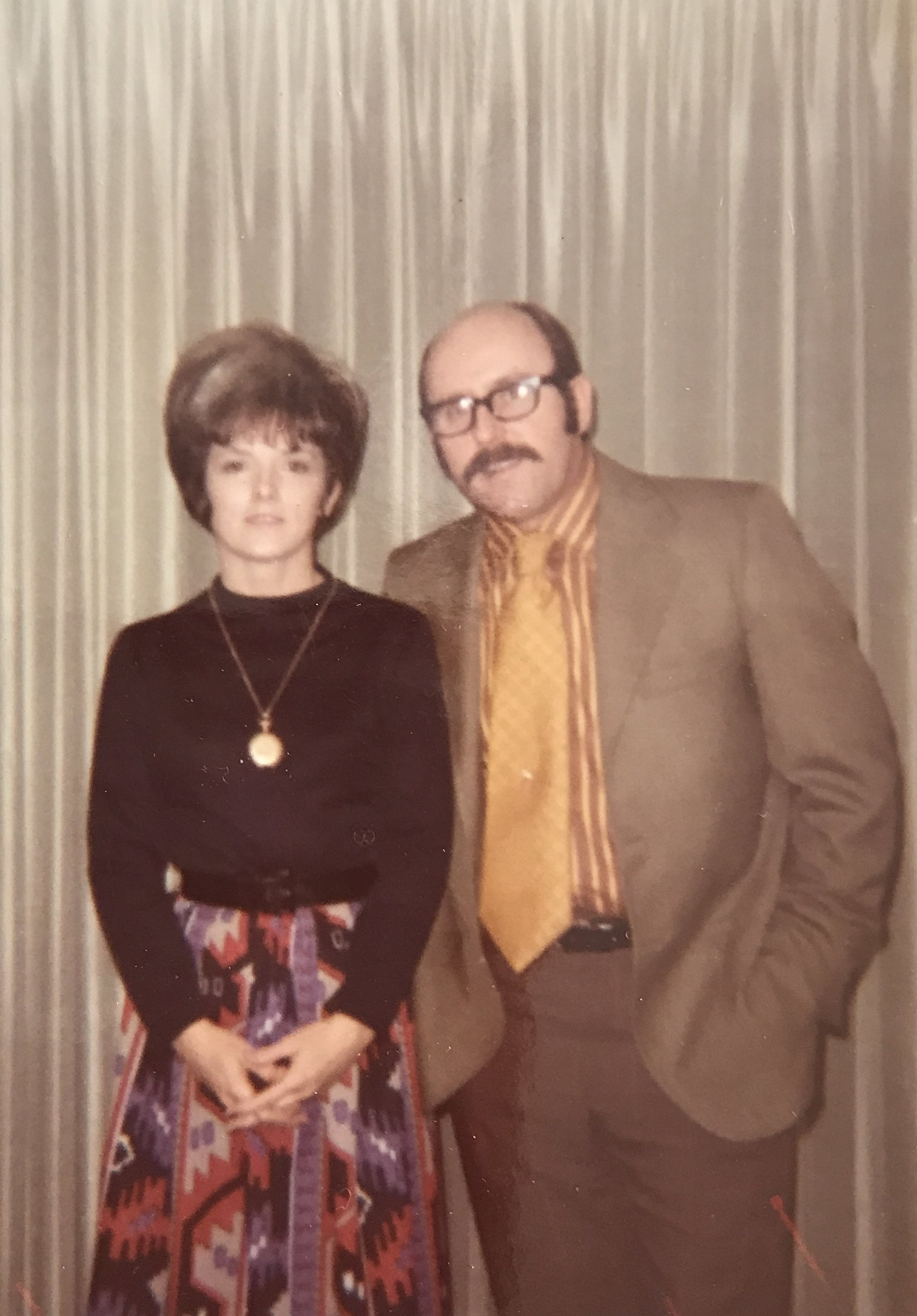 Mom and Dad looking mod in 1971.