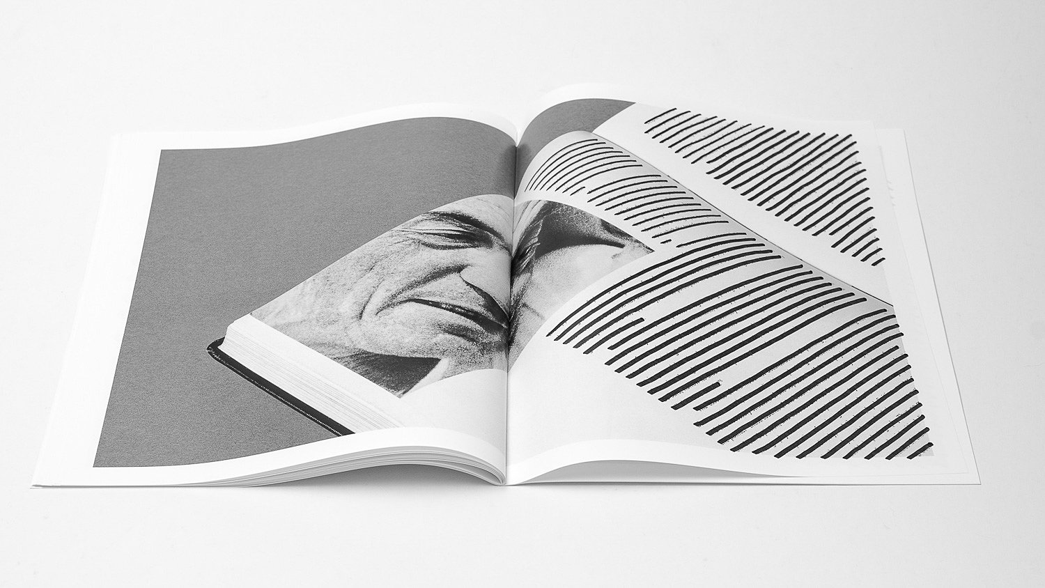 The resulting photographs were transferred back into a book layout and printed.