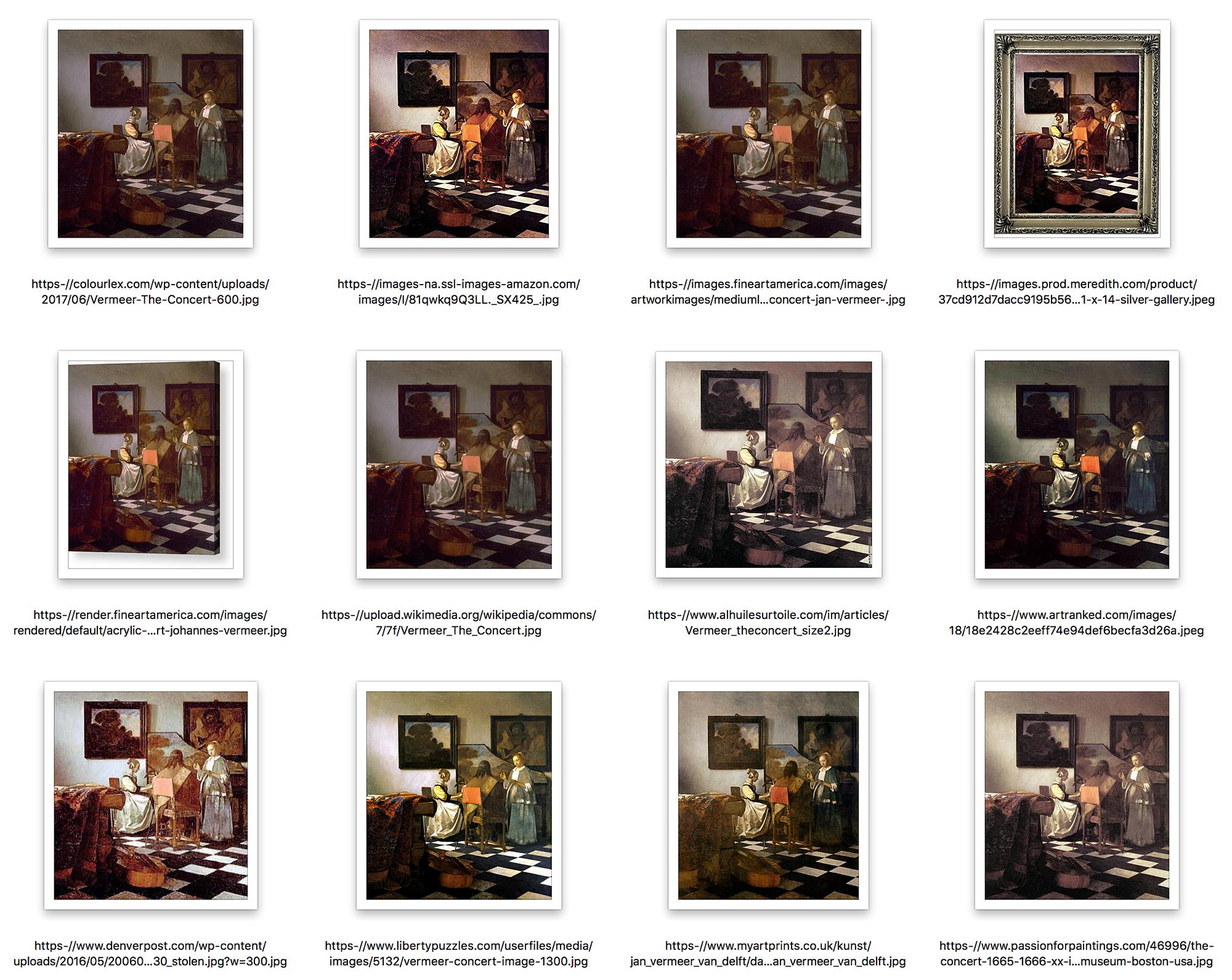 Grid of twelve jpegs, sorted by filename.