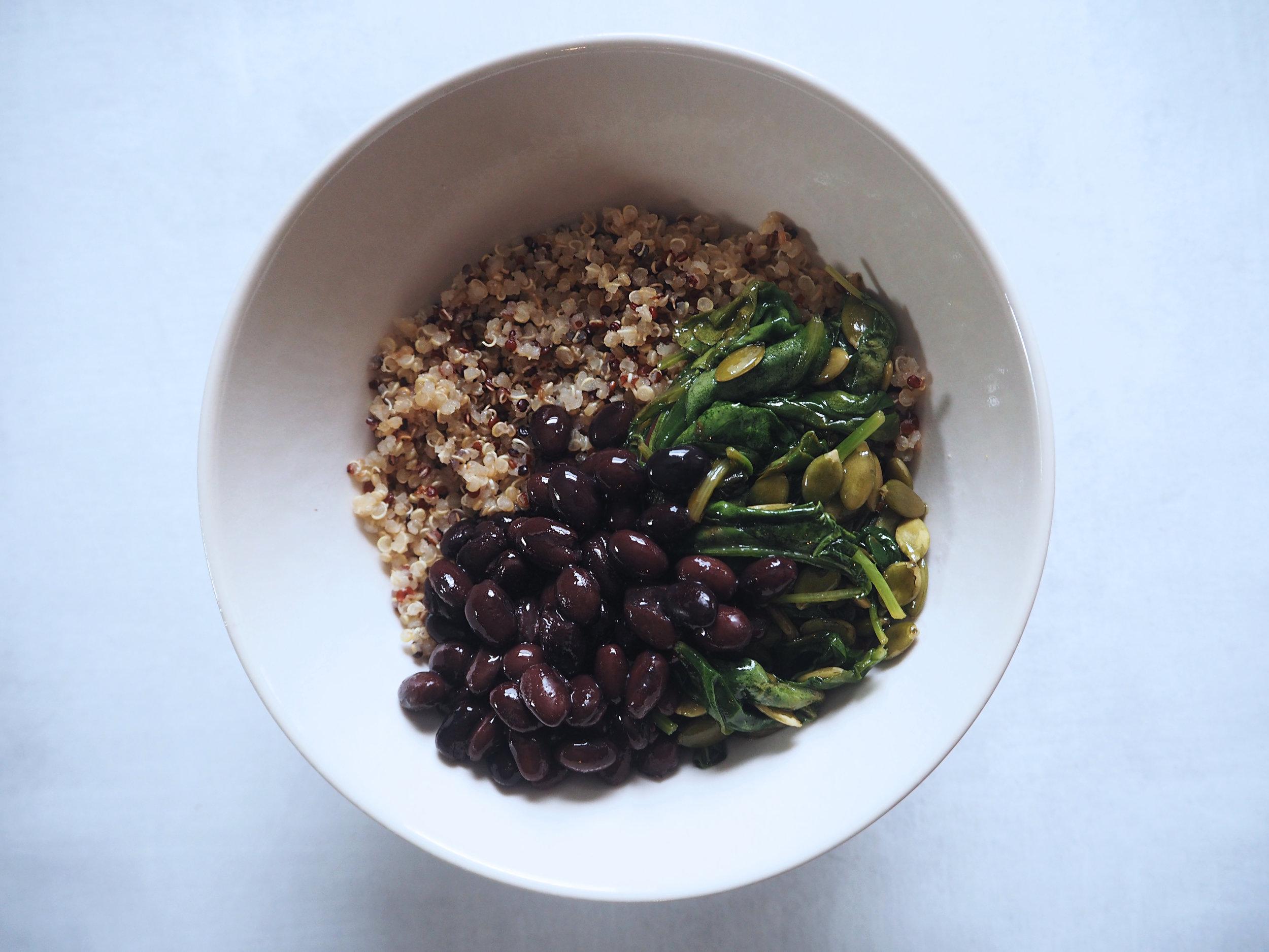 Quinoa Breakfast Bowl Progress