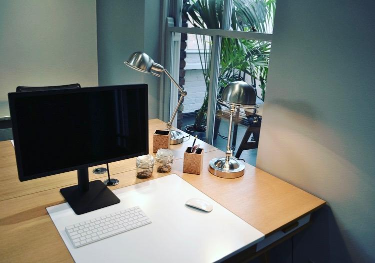 Desk space in Tito office.