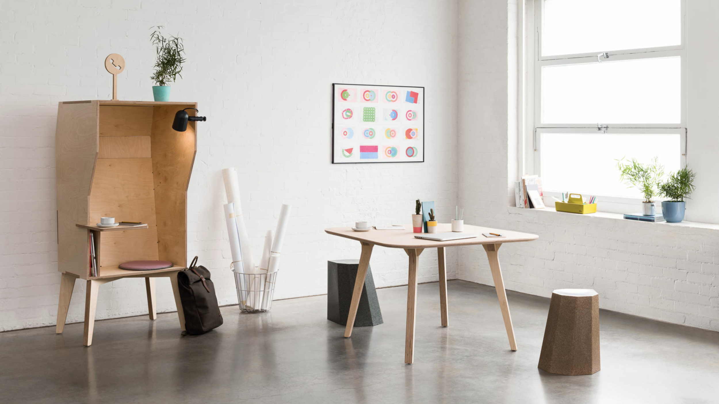 The Wiki Booth is a hybrid telephone and solo-working booth. €580 – €770.