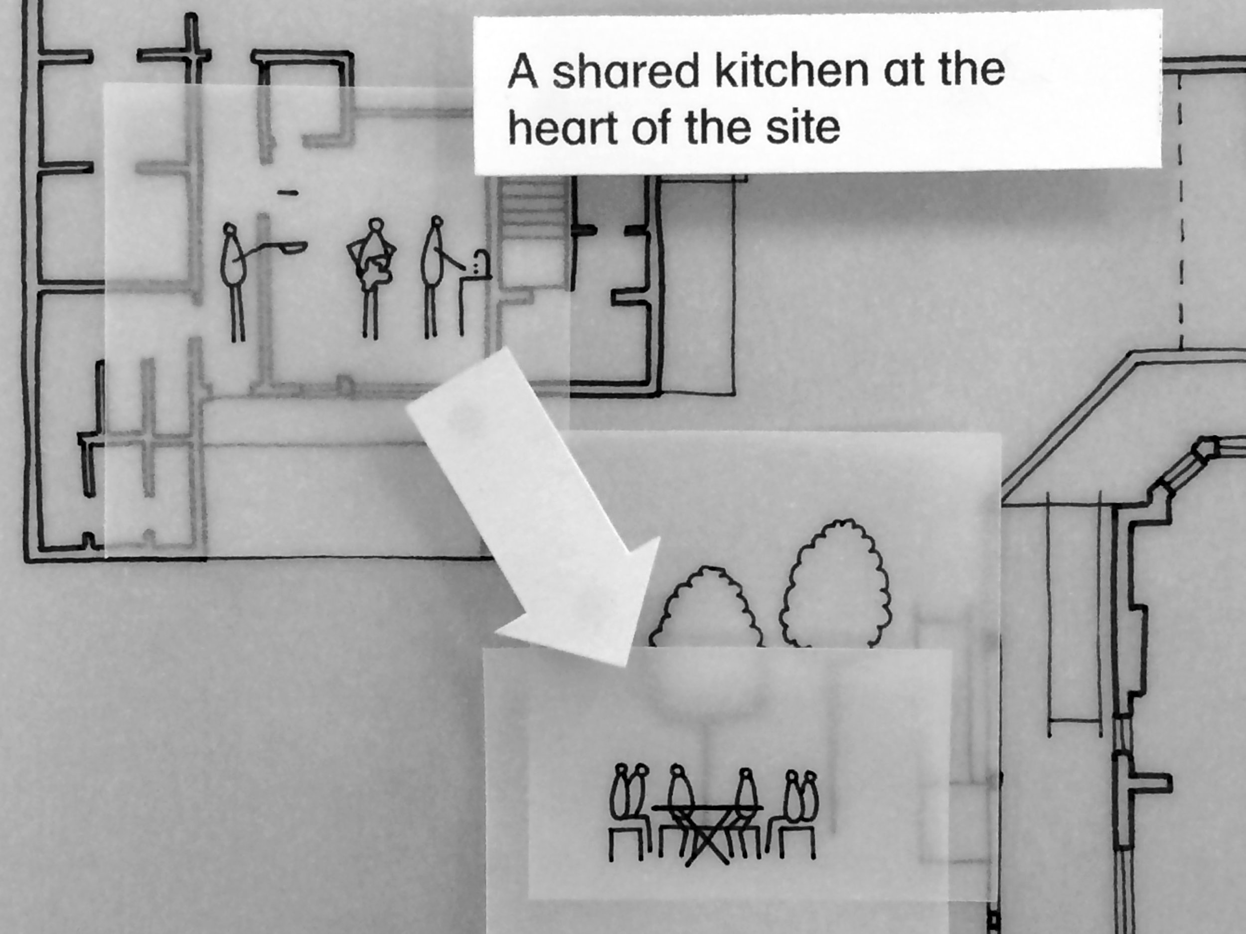 A shared kitchen at the heart of the site.JPG