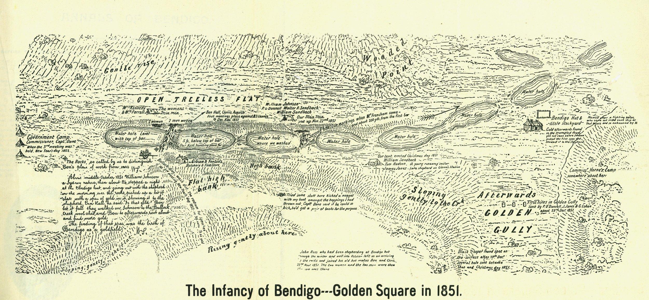 10 The Infancy of Bendigo 1851 Map_resized.jpg