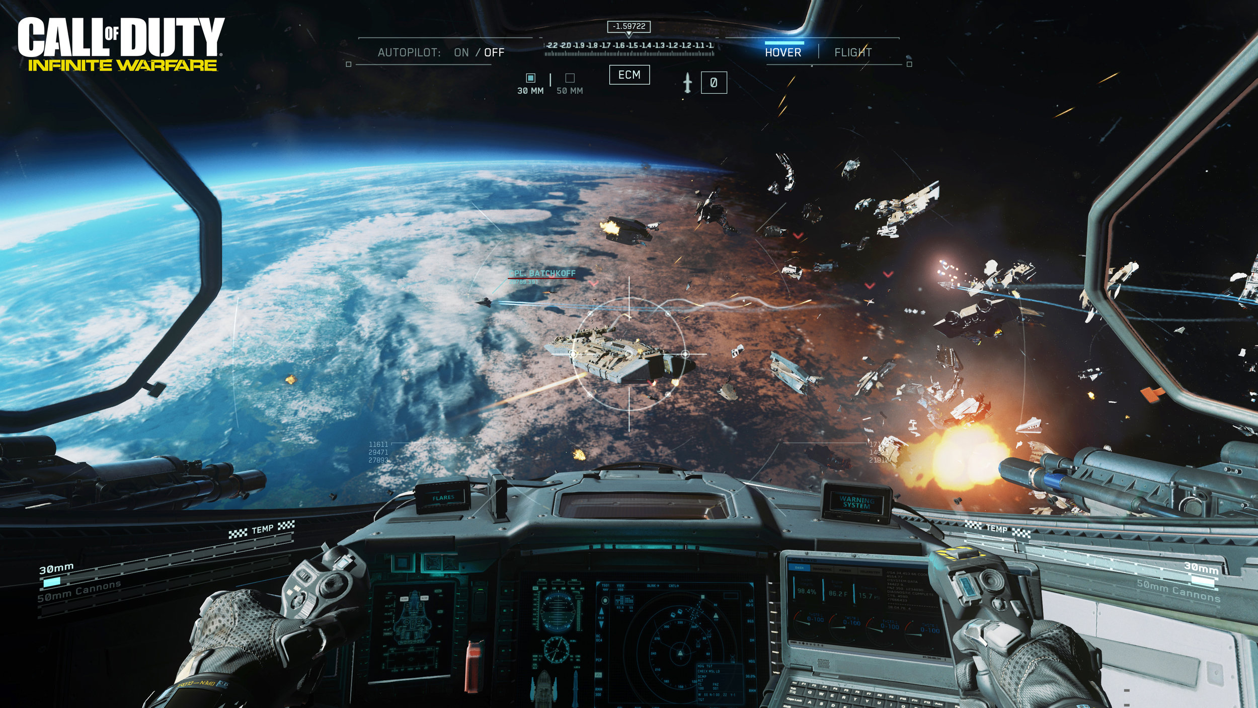 Decades from now, space war will still be waged by clicking right to aim and clicking left to shoot.