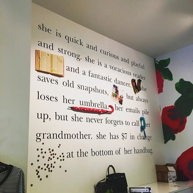 Some inspiration.... stay tuned for insights on Boss Branding and how to hone in on your target client! 😉 . . . . . #wallart #inspiration #katespade #sheisquickandcuriousandplayfulandstrong #wordsmith #whoisshe