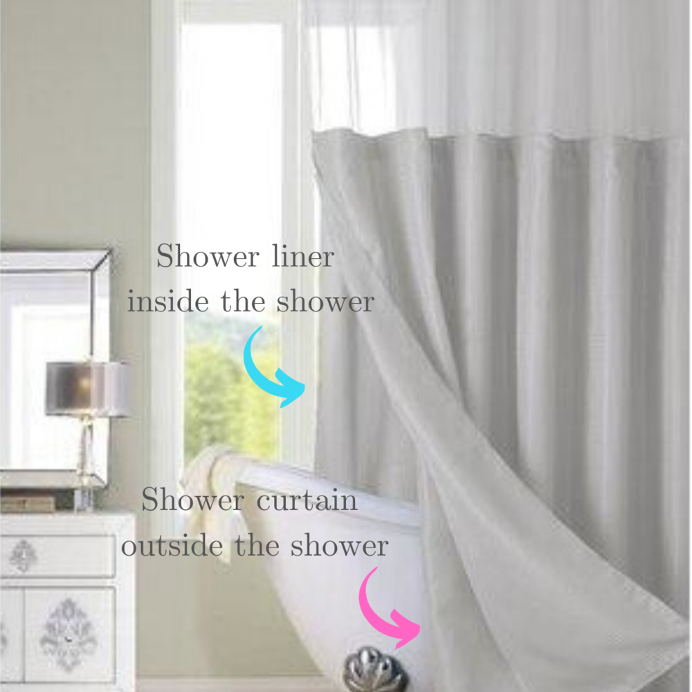 Shower Liners Curtains Mold And Mildew, Correct Way To Use Shower Curtains