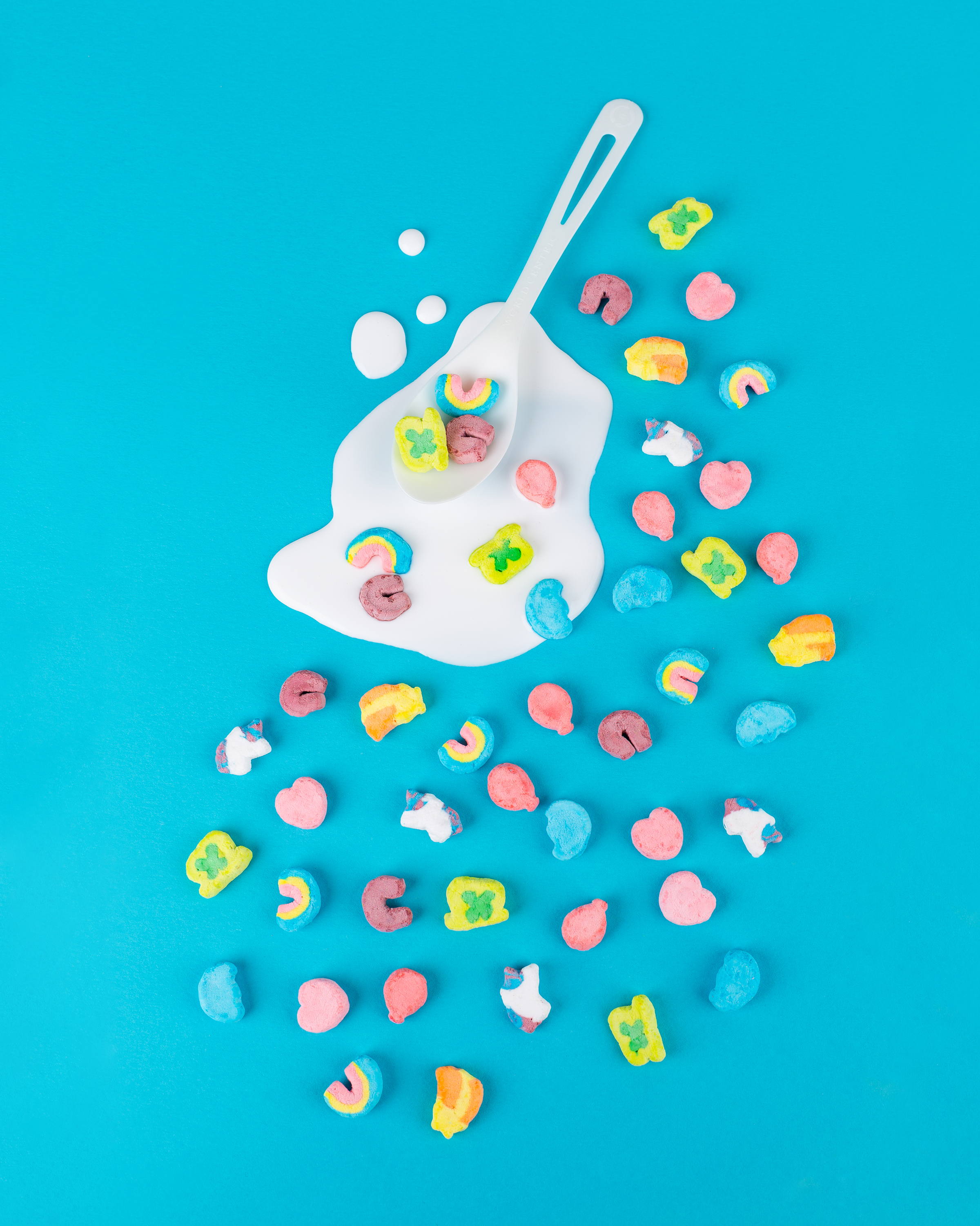 Kirsten Kaiser • Austin, TX   kirstenkaiserphotography.com  /  @kirstenkaiserphoto    My goal was to create a whimsical pattern play, using my favorite breakfast cereal of all time and to expand my studio skills by experimenting with creating the look of milk without using milk.