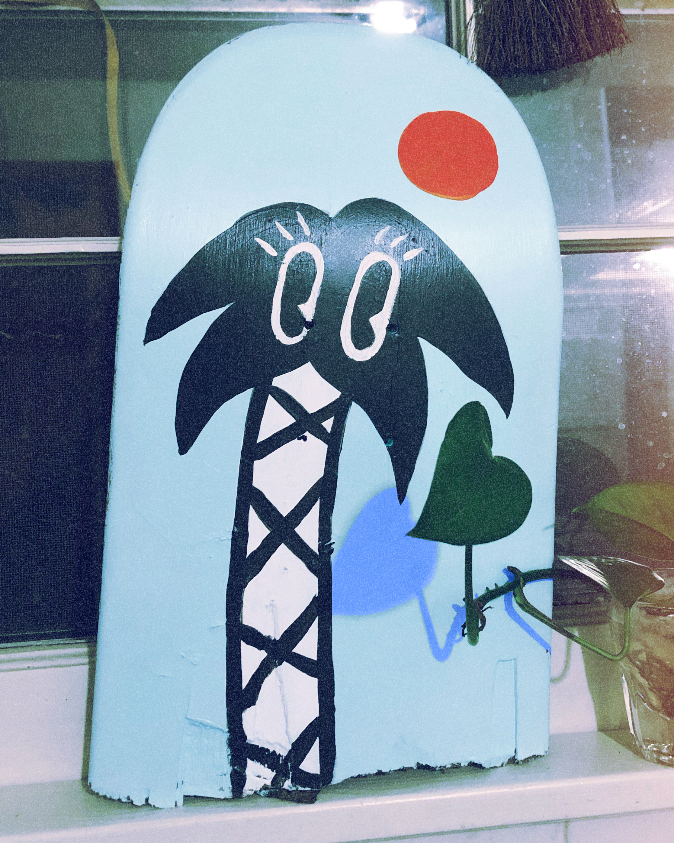 KB  • Nashville, TN   @kkbbkb    I painted this deck for my bud Micah who skated it in Barcelona and brought it back to the States. I messed with the color of the shadow it make it feel just a little off, but in a good way :)