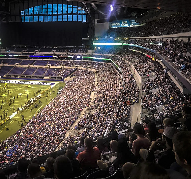 Participants, staff, and 23,342 paying fans at the 2017 DCI world championships