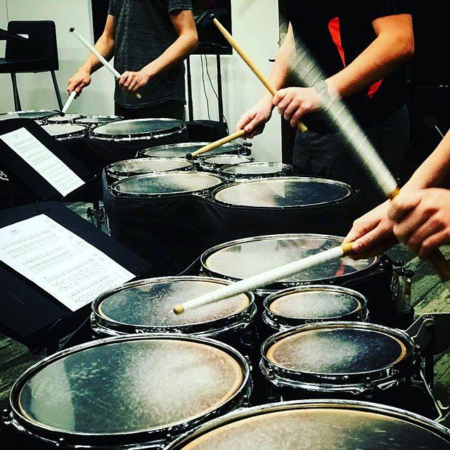 Laying down the beat! #drumcorps #growdrumcorps #marchingband #drumline #tulsamusic