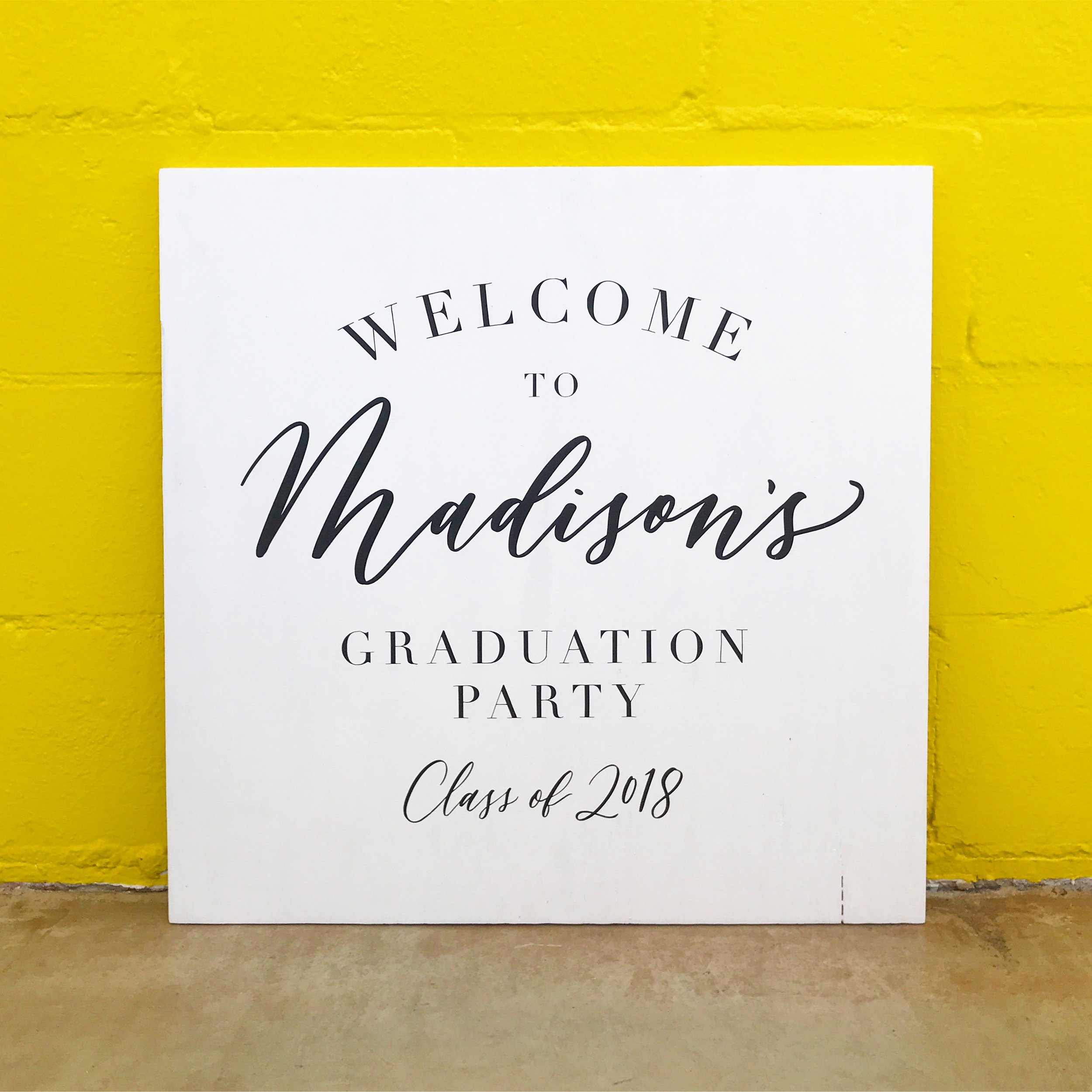 Graduation Party Signage