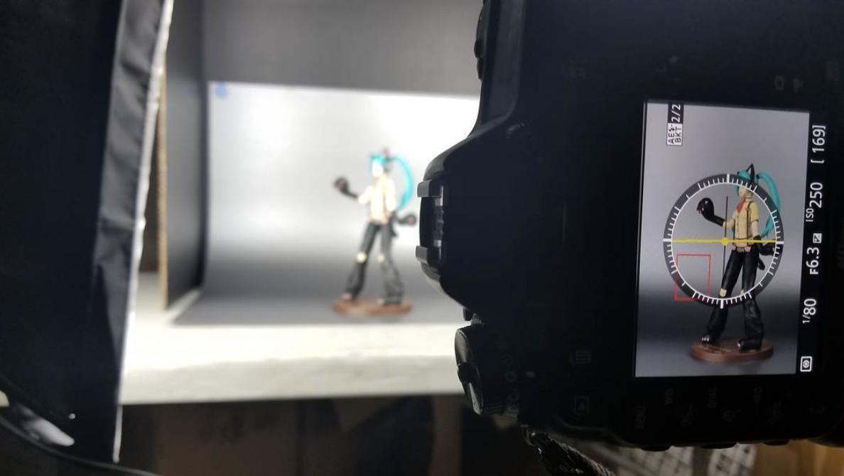 Shooting Nyanko Hatsune Miku.