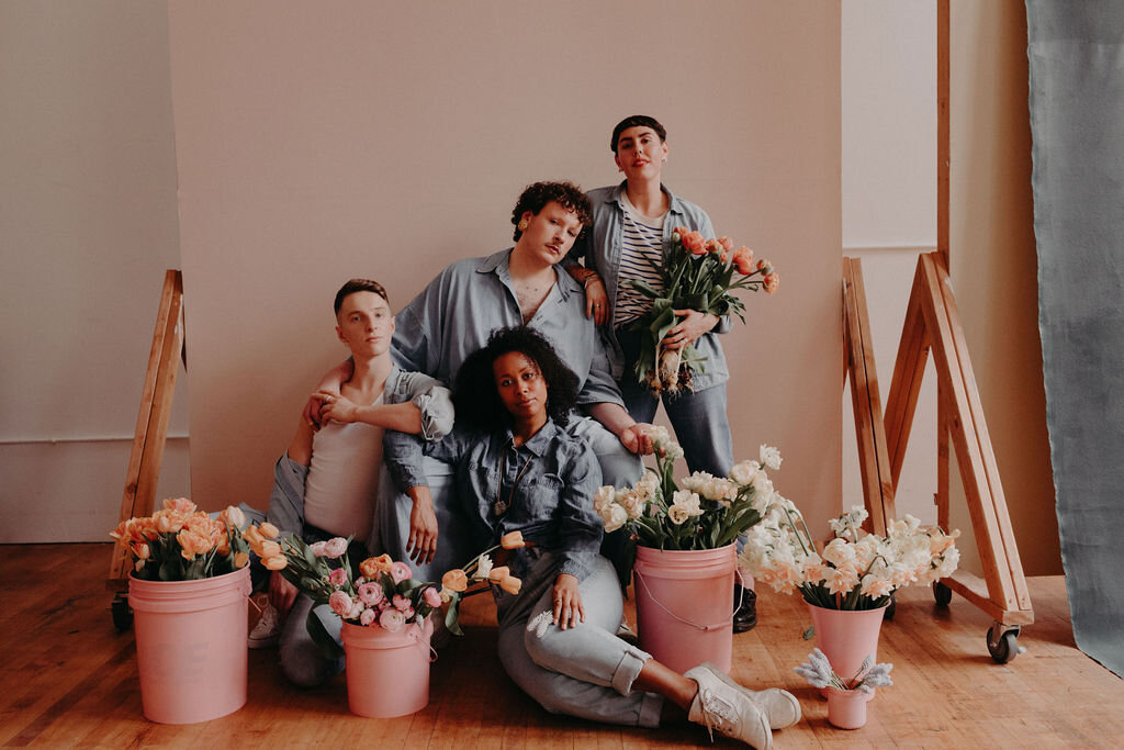 Flowers and friends of Small Yard Flowers. Photo: Micky Bones Photography