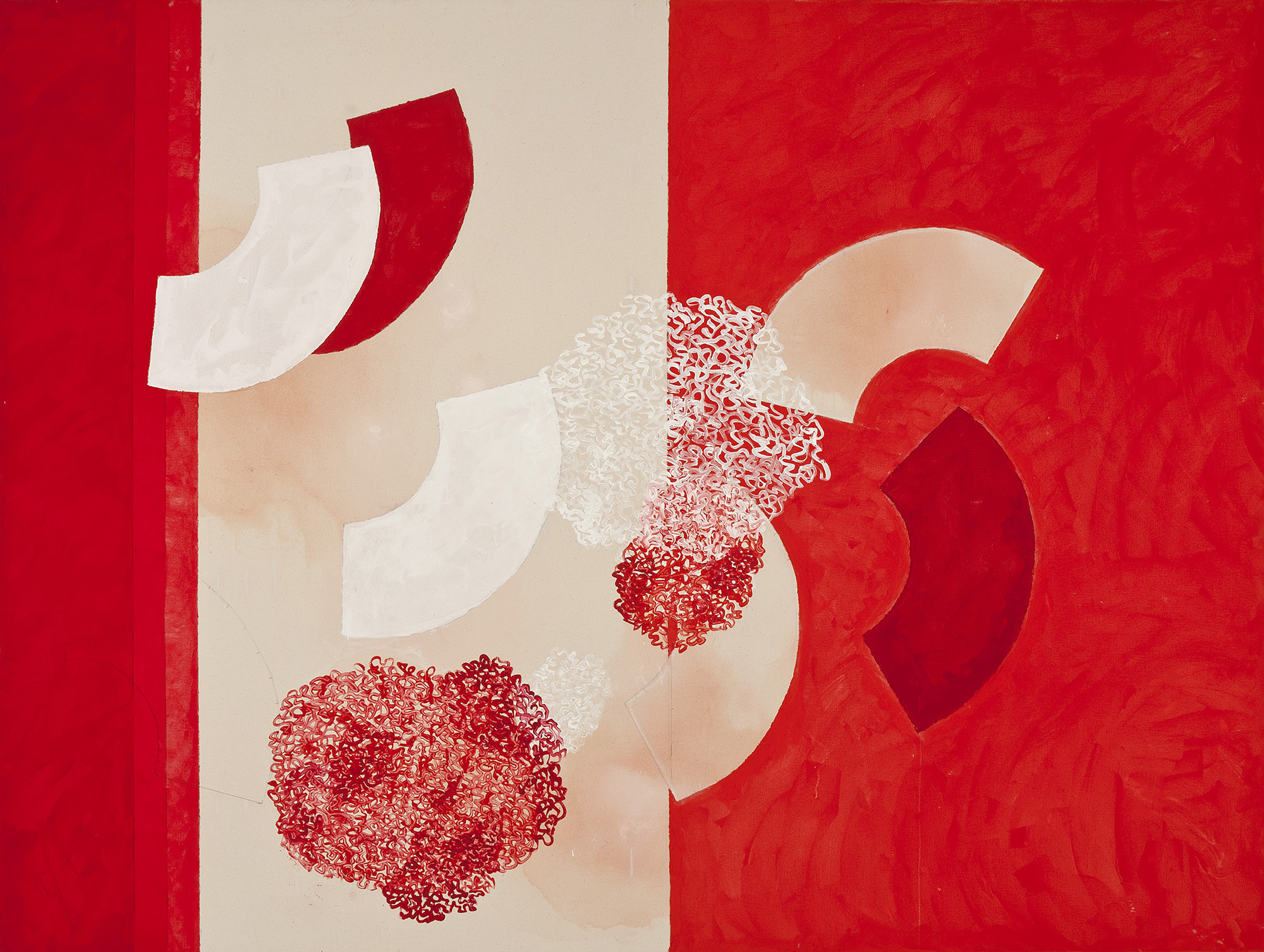 DENISE GREEN  Independence  2014 acrylic and pencil on canvas 173 ×223.5 cm