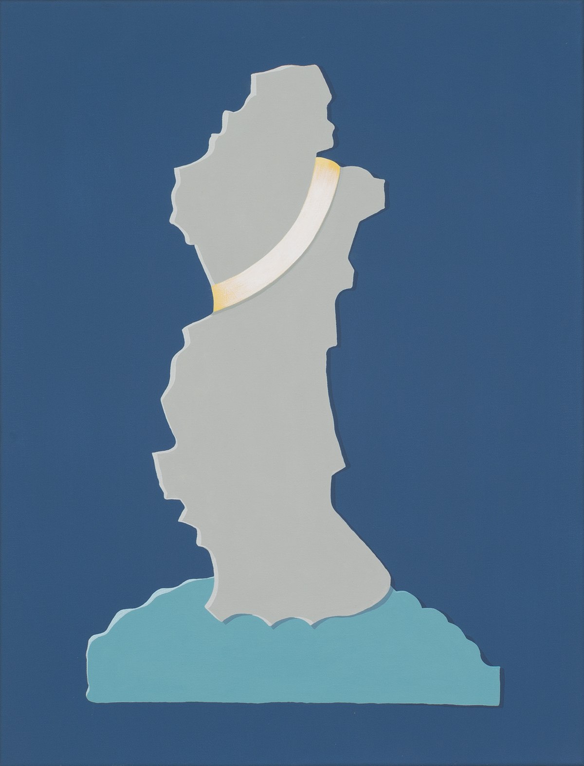 MICHELLE HANLIN  Untitled  2017 vinyl paint on canvas 56.5 × 51 cm