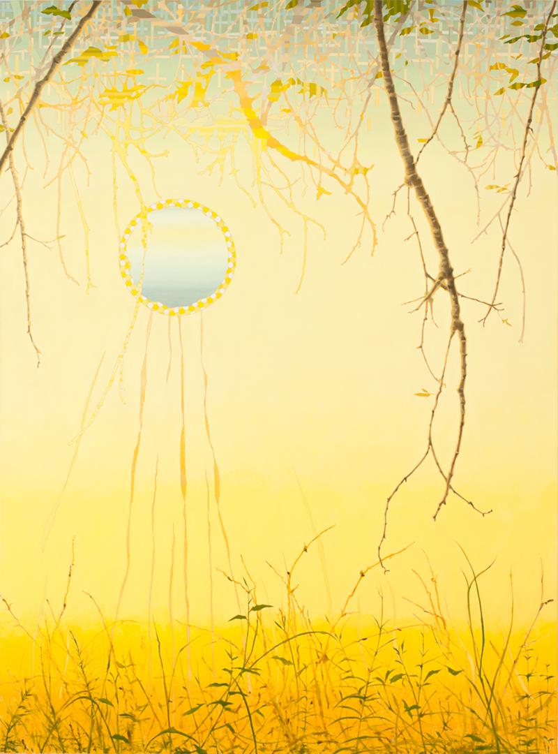 VIV MILLER  Pastorale  2012 oil, enamel and pencil on canvas 170 ×130 cm