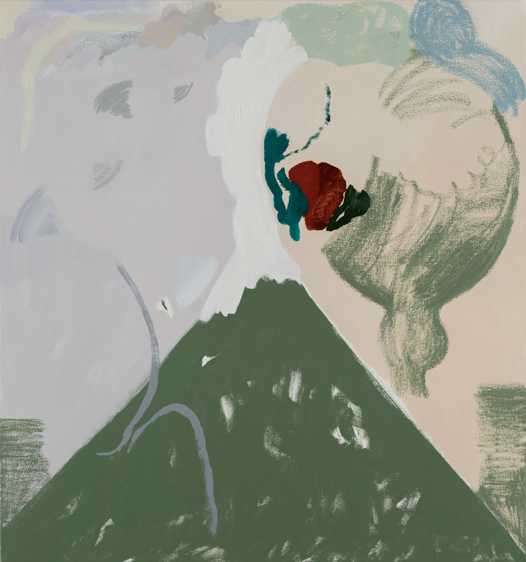 TONEE MESSIAH  Digital Pool  2017 oil on canvas 76 × 71 cm