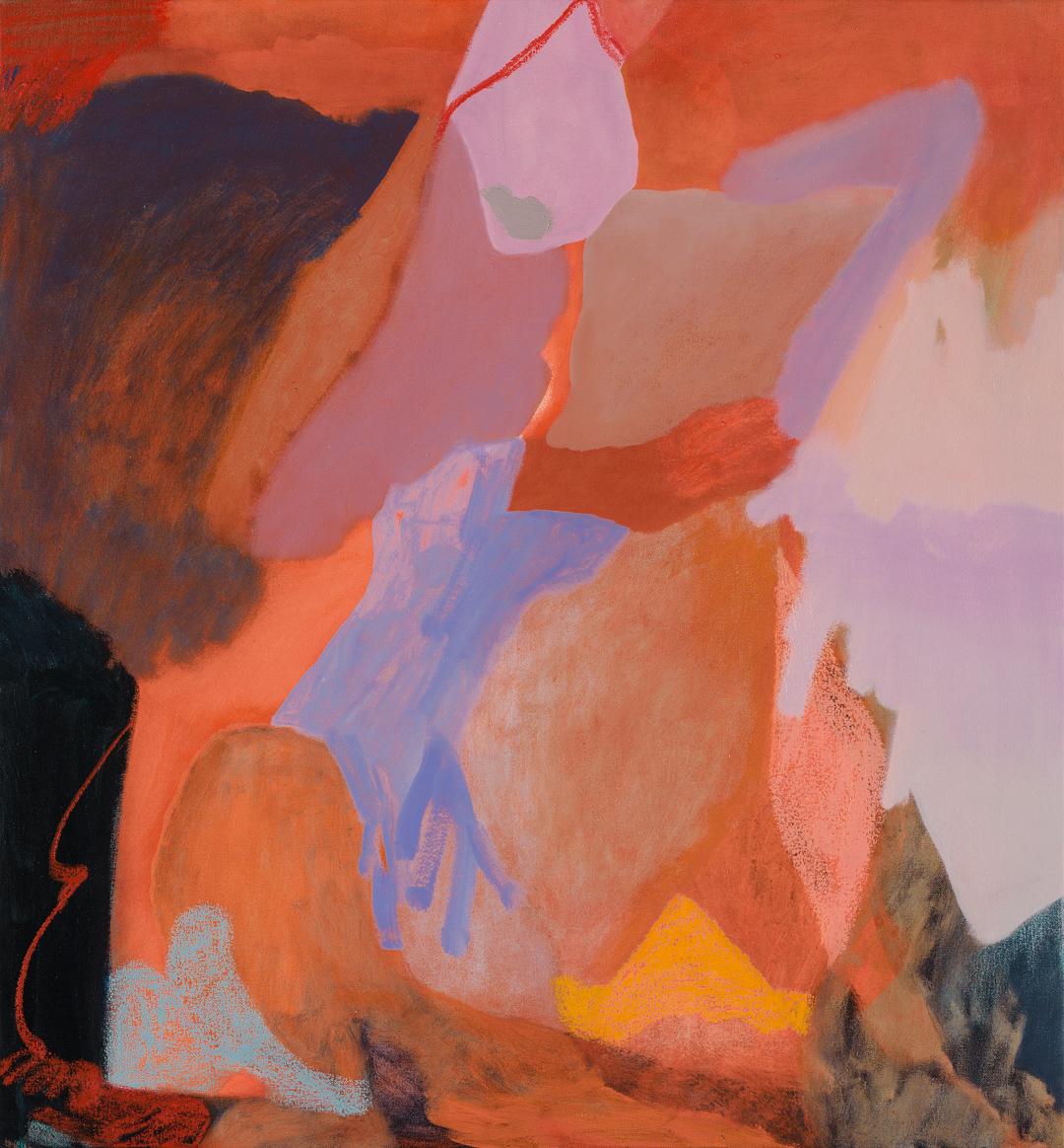 TONEE MESSIAH  Self Fulfilling Feedback  2017 oil on canvas 76 × 71 cm