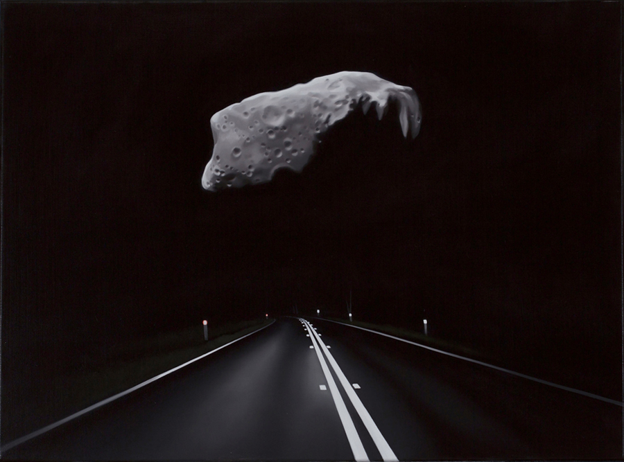 TONY LLOYD  is a finalist in the Hadley's Art Prize, the worlds richest prize for landscape painting, with his work  Near Earth Asteroid with Highway (Ida)  2017, oil on linen, 45 × 61 cm. 15 July – 25 Aug 2017