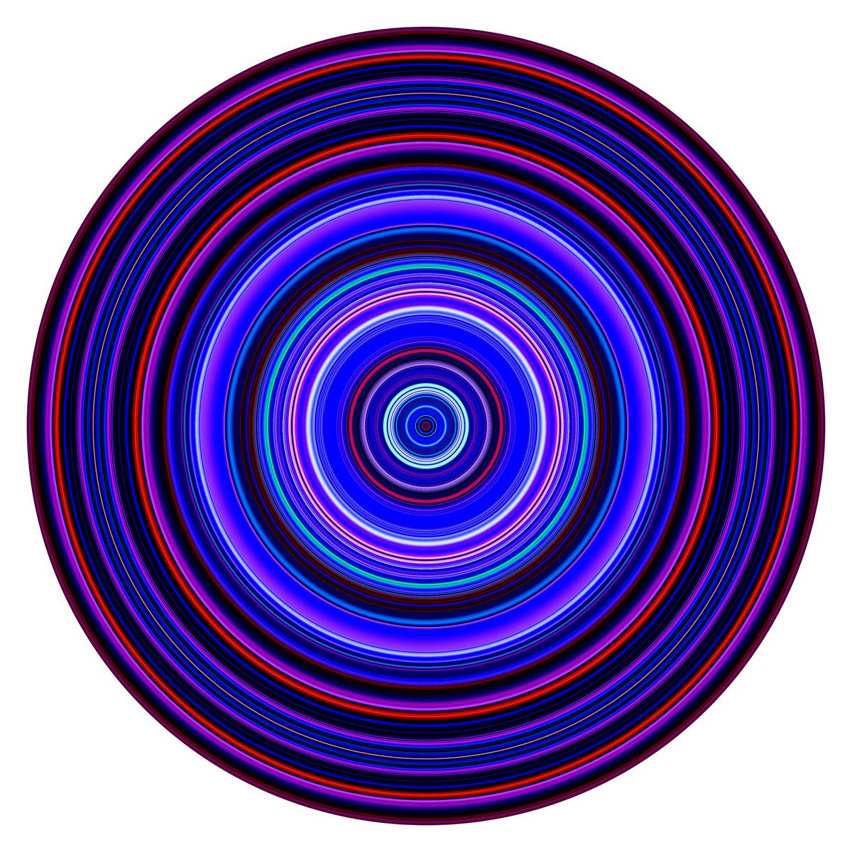 PAUL SNELL  Pulse # 201603  2016 Lambda print face-mounted to 6mm Plexiglas 118cm diameter