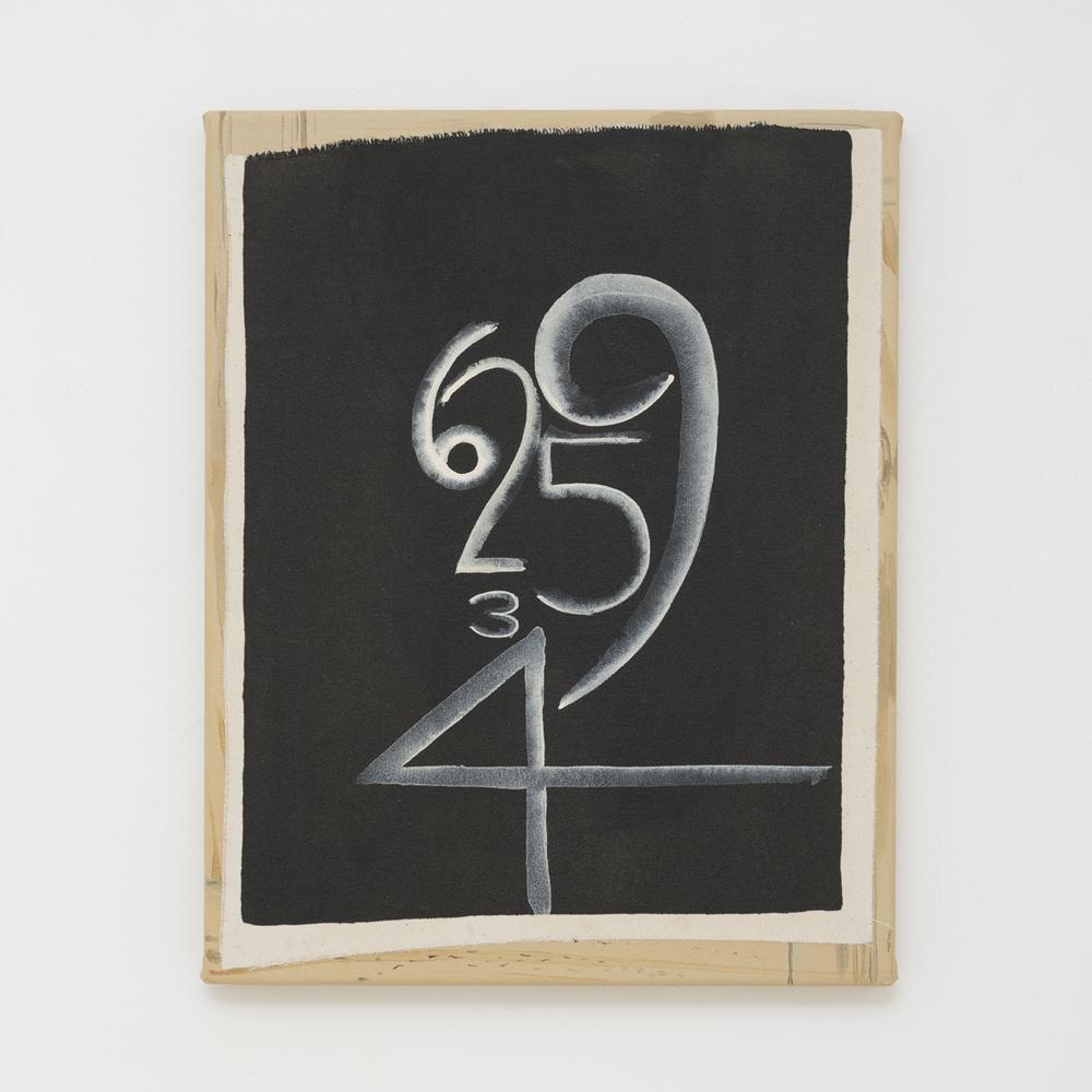 JULIAN HOOPER  Twenty-nine  2017 acrylic on canvas 38 × 31 cm