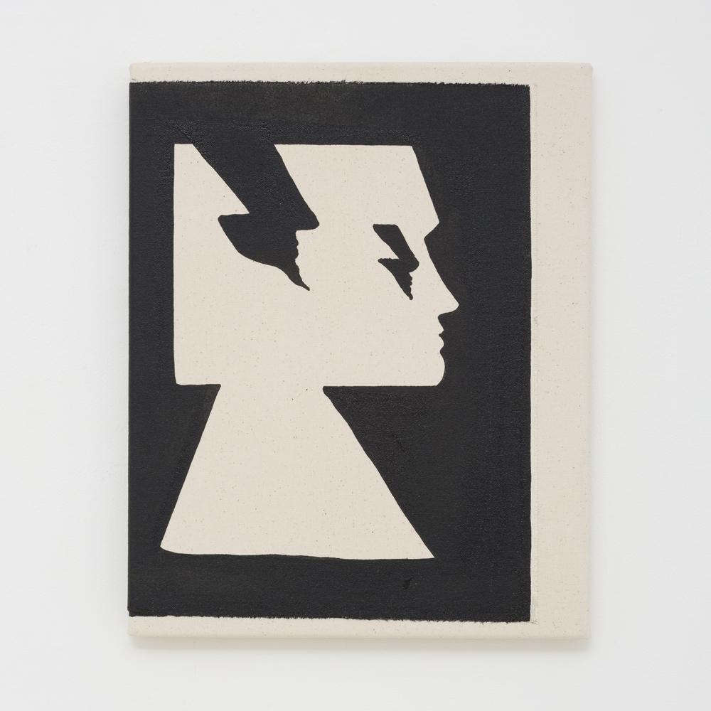 JULIAN HOOPER  Psyche  2017 acrylic on canvas 38 × 31 cm