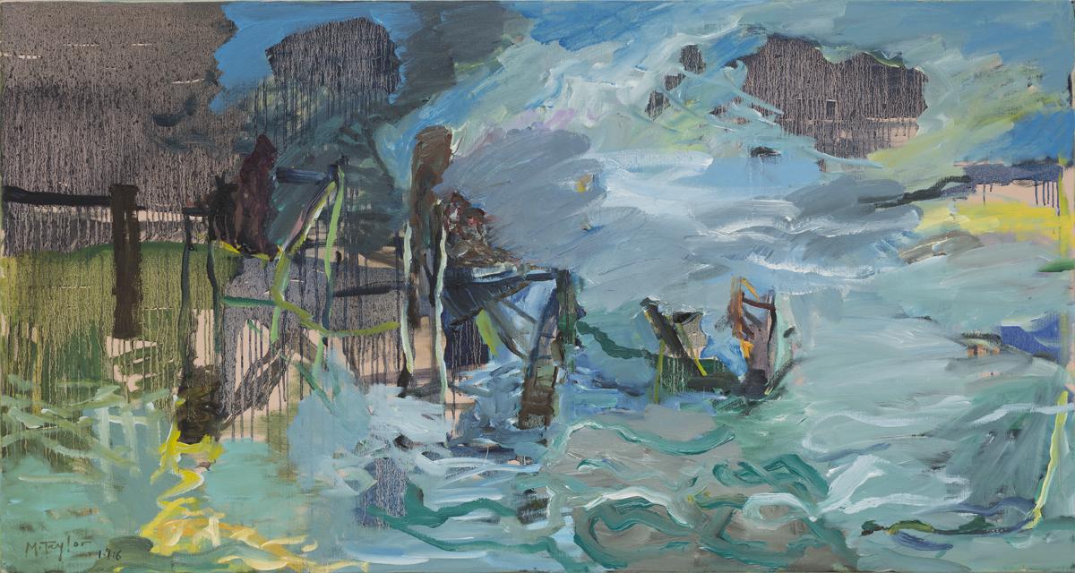 MICHAEL TAYLOR  La Jetée  2016 oil on canvas 90 ×169 cm
