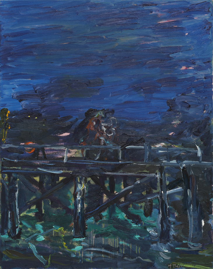MICHAEL TAYLOR  On the Wharf  2015 oil on canvas  122 × 96 cm