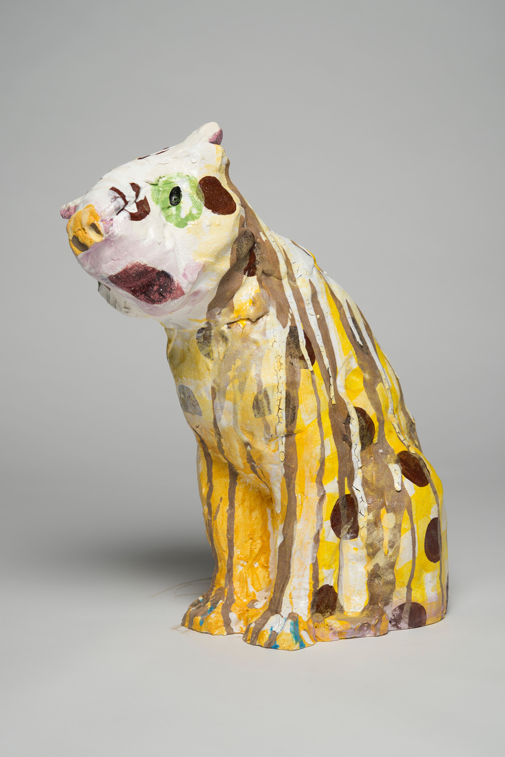 PIE RANKINE  A jaguar: spotty state  2015 clay, glaze 40 × 30 × 22 cm