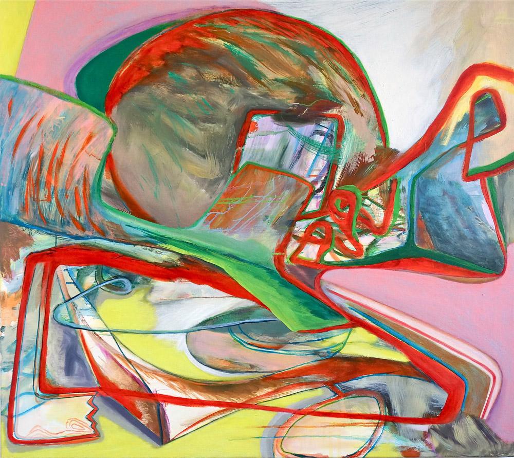 DAVID PALLISER  Autumn's Atom  2016 oil on canvas 122 × 137 cm