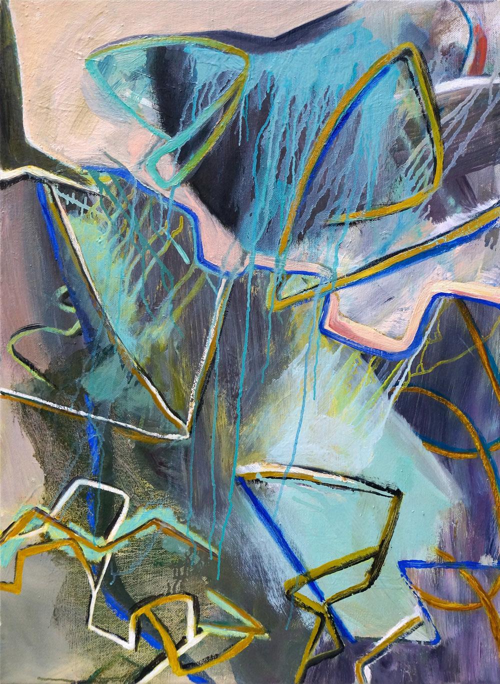 DAVID PALLISER  Aft  2015 oil on canvas 78 × 56 cm