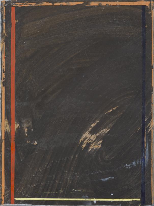 JELLE VAN DEN BERG  Absence 2 015 oil on paper on canvas 40.5 × 30.5 cm