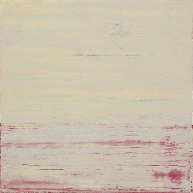JELLE VAN DEN BERG  Sunrise  2015 oil on paper on canvas 30.5 × 30.5 cm