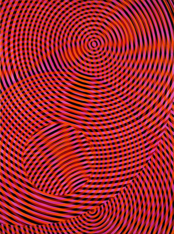 JOHN ASLANIDIS  Sonic No. 60  2017 oil and acrylic on canvas 133 × 92 cm