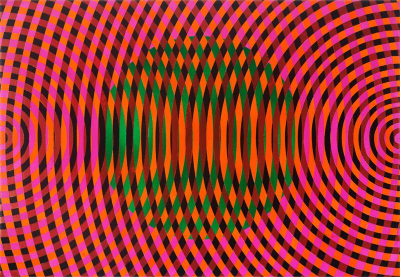 JOHN ASLANIDIS  Sonic Fragment No. 54  2017 oil and acrylic on canvas 46 ×66 cm