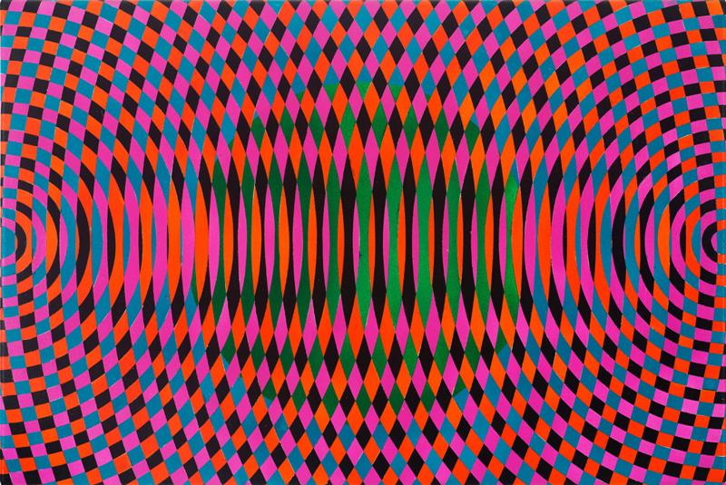 JOHN ASLANIDIS  Sonic Fragment No. 57  2017 oil and acrylic on canvas 41 ×61 cm