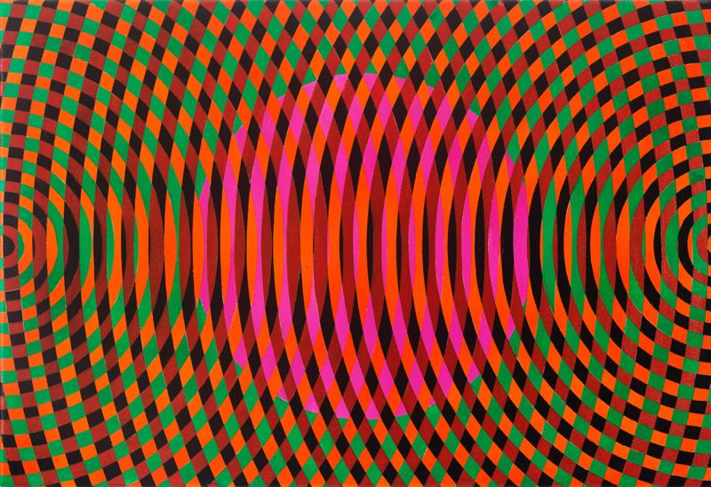 JOHN ASLANIDIS  Sonic Fragment No. 58  2017 oil and acrylic on canvas 41 ×61 cm