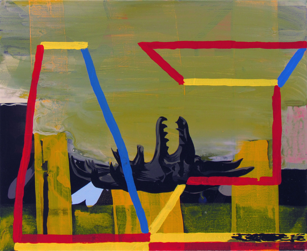 JULIAN HOOPER  Foundation  2016 acrylic on linen 56 × 45 cm