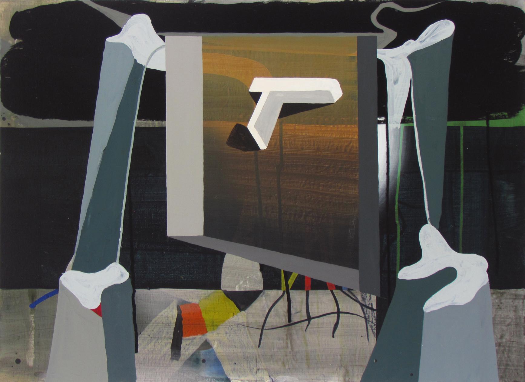 JULIAN HOOPER  Thriller  2016 acrylic on linen 56 × 76 cm