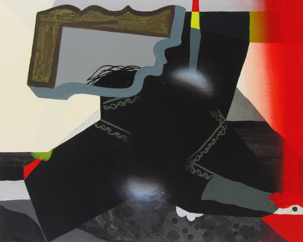 JULIAN HOOPER  Mr Sands  2016 acrylic on linen 61 × 76 cm