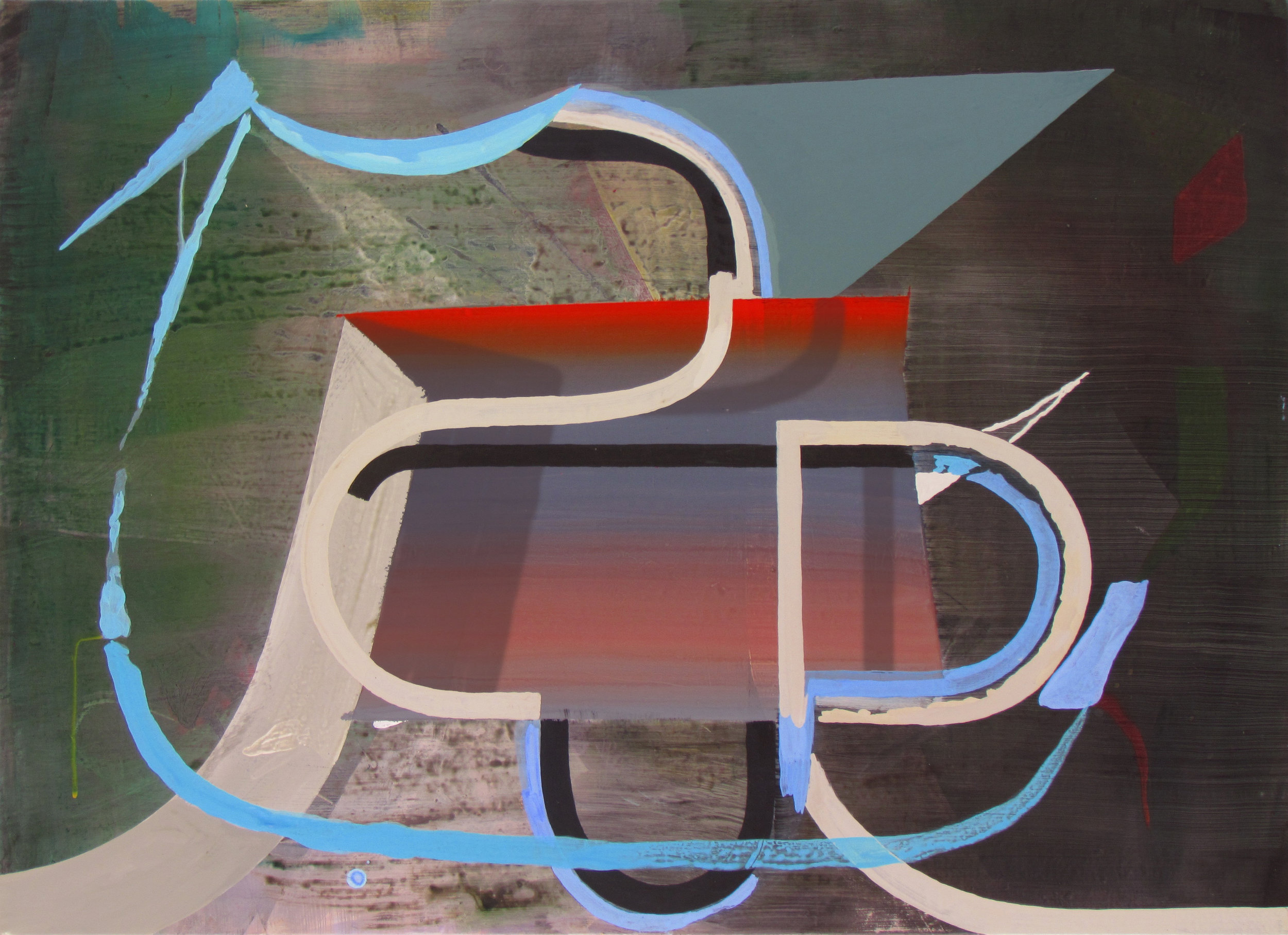 JULIAN HOOPER  Racer  2016 acrylic on linen 56 × 76 cm